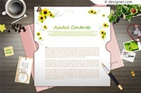 Aesthetic pattern cards PSD material