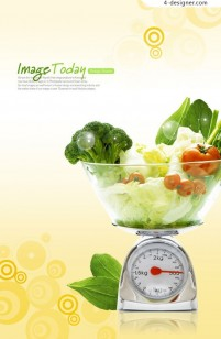 Fresh fruits and vegetables PSD material