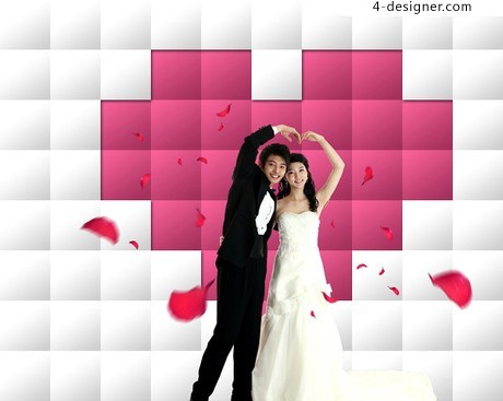 Happy couple photography PSD material