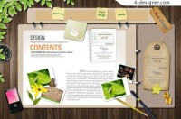Multifunction folders PSD material