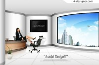 Office Professional Women PSD material