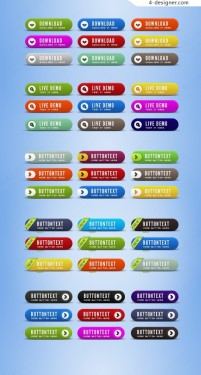 6 round buttons psd material texture