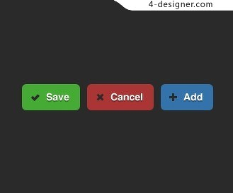 Colorful Labels button PSD material