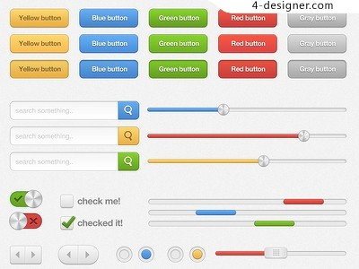 Colorful UI psd material