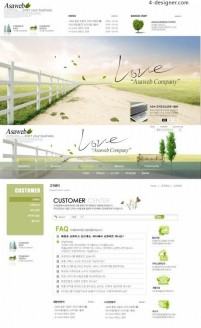 Corporate web templates psd layered material
