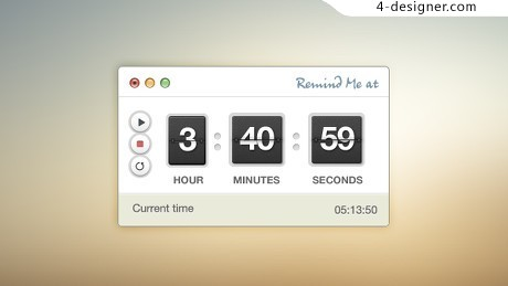 Countdown interface design psd material
