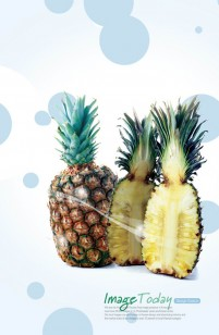 Delicious pineapple PSD material
