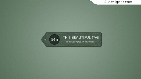 Detailed price tag psd material