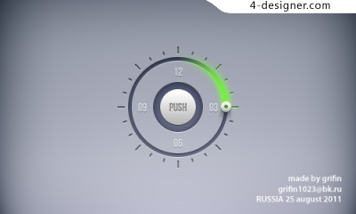 Fashion concept dial psd material