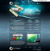 Foreign Science and Technology website template PSD material