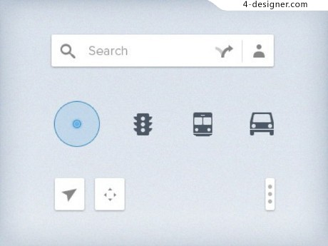 Google Maps UI elements psd material