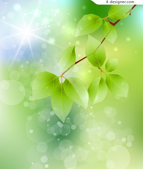 HD leafy branches background PSD material