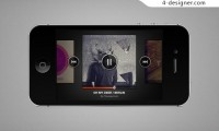 Iphone music player psd material