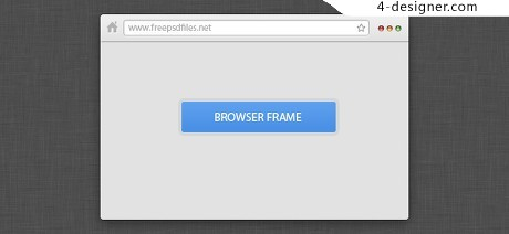 Mini browser page psd material