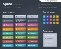 Network elements button psd material