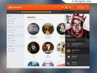 Online music player interface PSD material