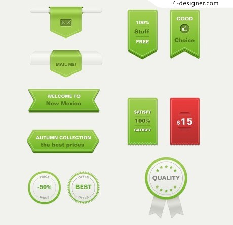 Promotional discount label psd material