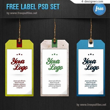Psd material texture tag labels