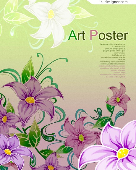 Realistic flowers flowers PSD material