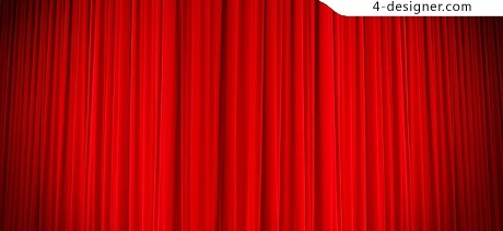 Red curtain background material psd