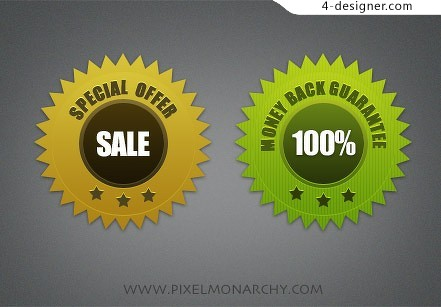 SALE label design material