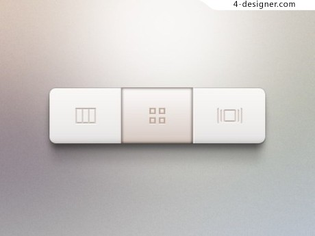 Segmented control buttons psd material