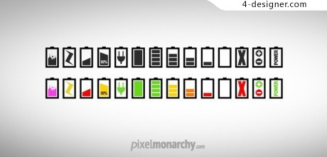 Simple battery icon psd material