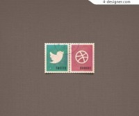 Social stamp icon psd material