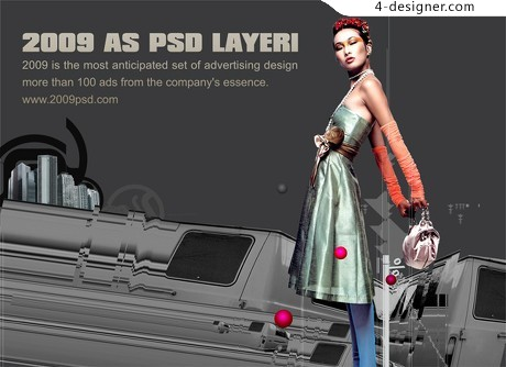 The fashion model posters PSD material