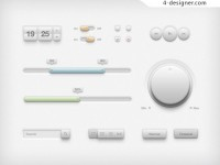 UI interface elements PSD material
