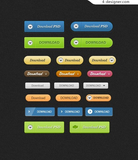 Web Buttons PSD material