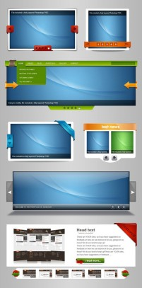 Website Template PSD material