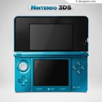 3DS console UI interface design psd material