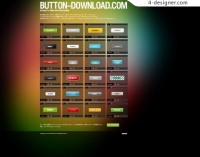 A variety of web buttons PSD material