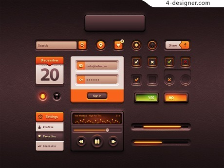 Application interface UI package PSD material