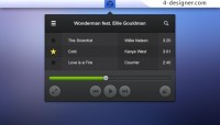 Audio player psd material
