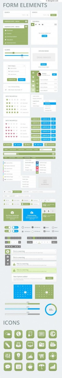 Awesome UI Kit PSD material 02