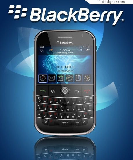 BLACK BERRY Blackberry phone PSD material