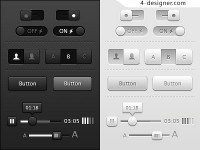 Black and gray tie UI theme pack psd material