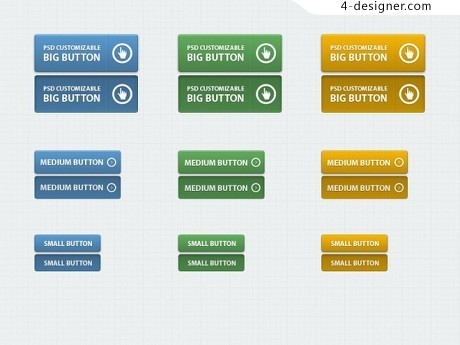 Classic web buttons PSD material