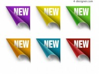 Colorful label roll angle PSD material