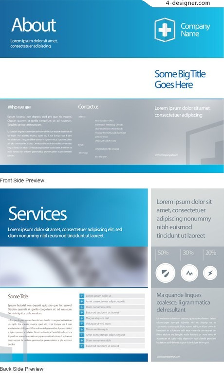 Corporate web design psd material