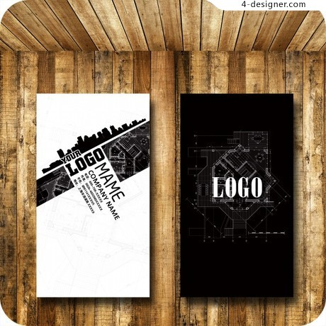 Creative advertising business card PSD material