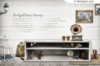 European style furnishings life PSD layered material