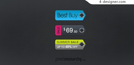 Fashion label psd material