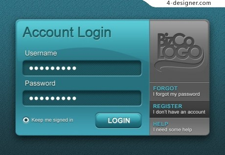 Form UI elements PSD material