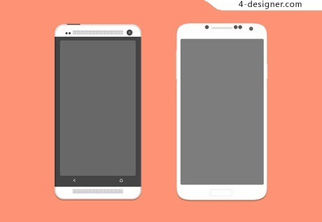 HTC One and Galaxy S4 PSD Templates