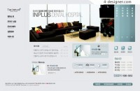 Home decorating theme web design PSD material