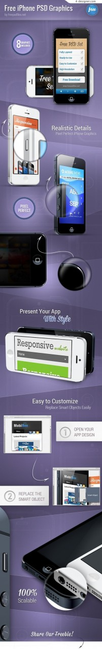IPhone display template psd material