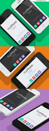 IPhone5 flat psd material model